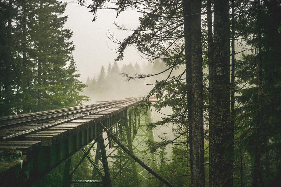 abandonded train bridge vance creek