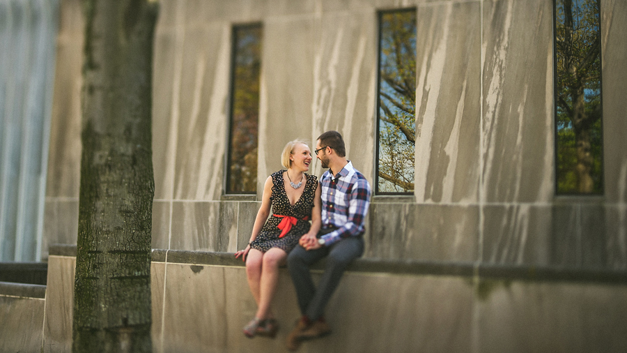 creative portrait with tilt shift in dc