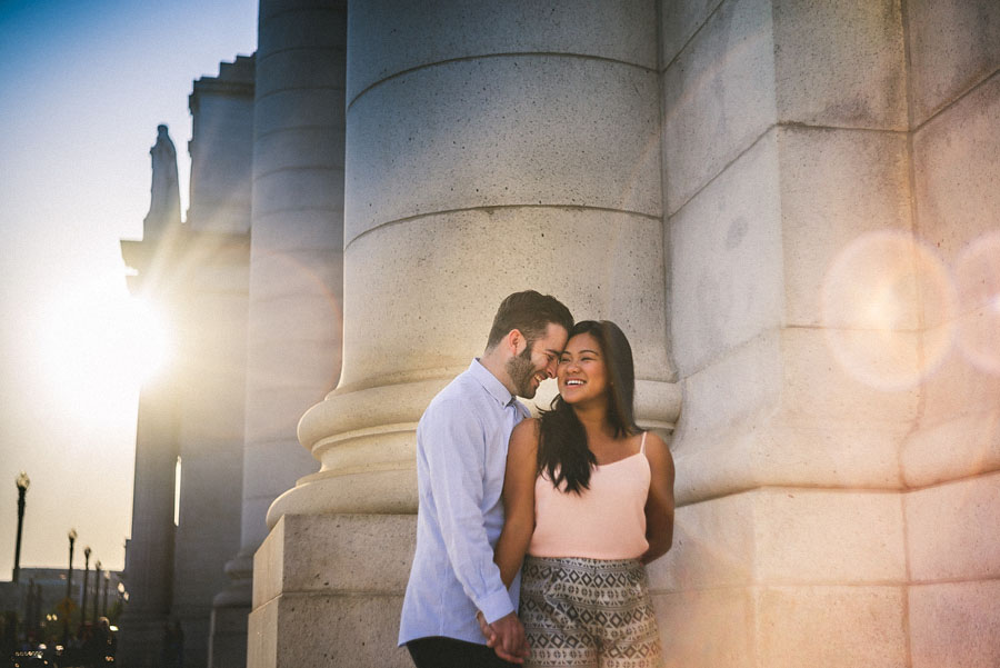 creative engagement session photo