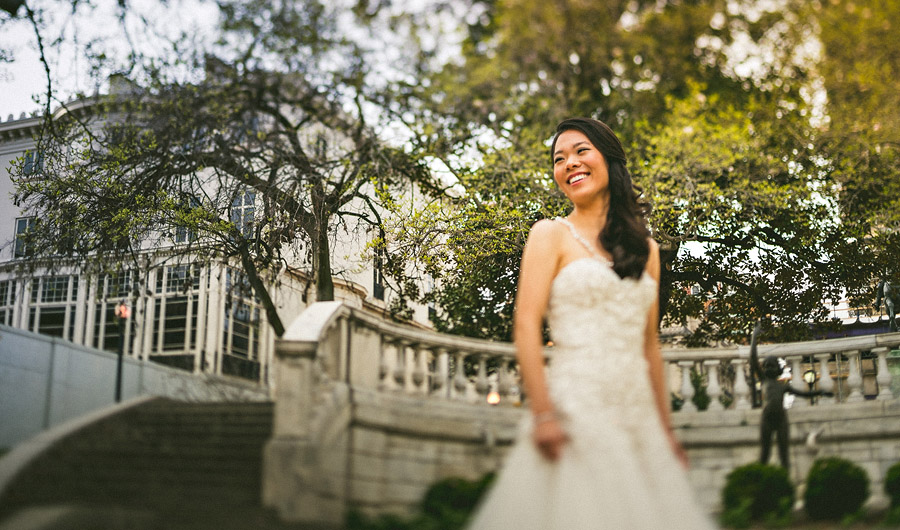 bridal portrait in mount vernon square