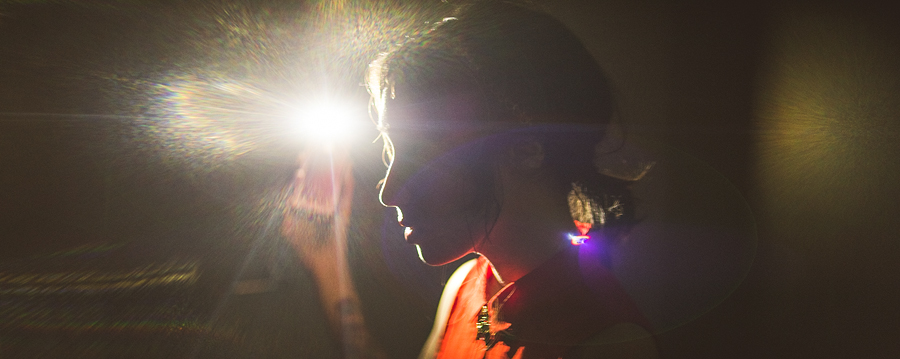 anamorphic lens portrait with flare