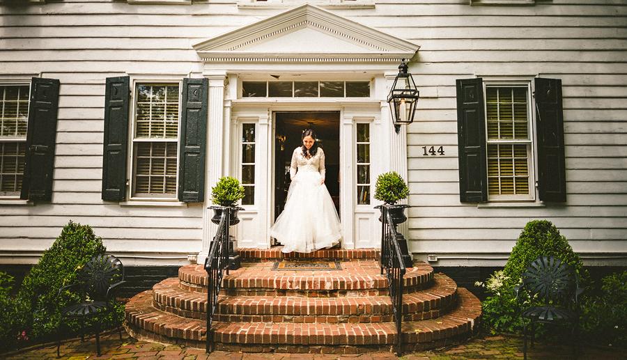 bride walking to frist look