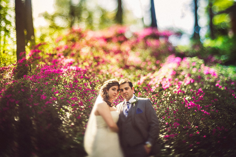 bride and groom portraits with freelensing
