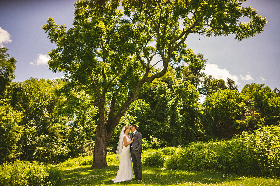 bride and groom in the meadow at river farm virginia