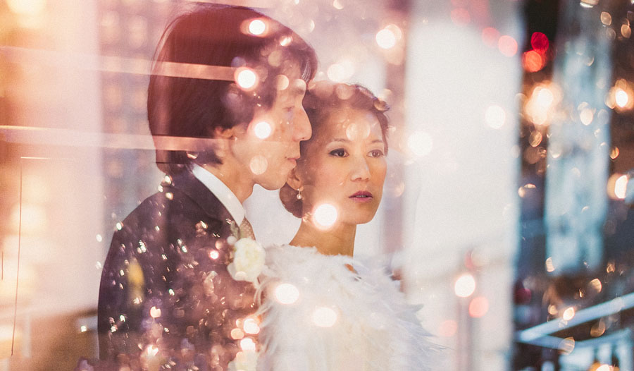 abstract bride and groom portraits