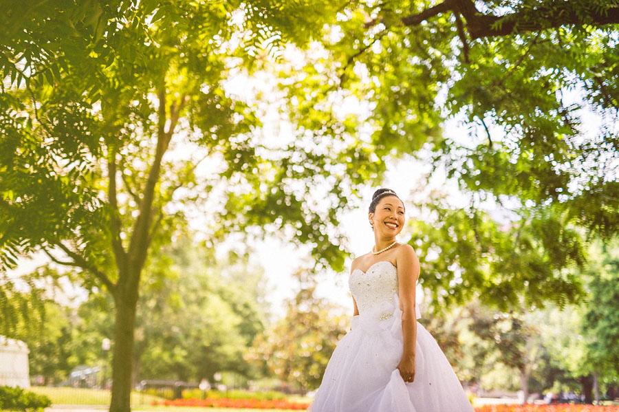 bride in presidents park dc