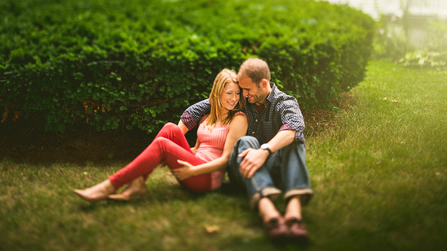 couple in love during engagement photos
