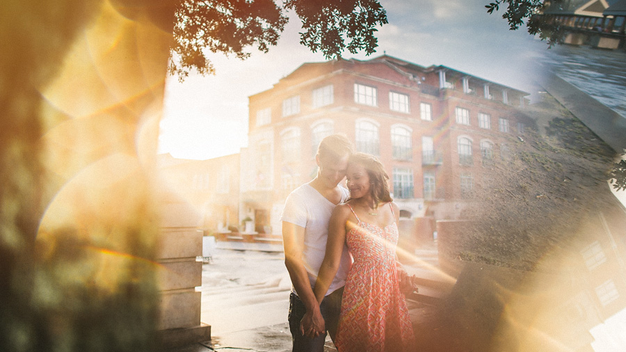 artistic charleston engagement photos