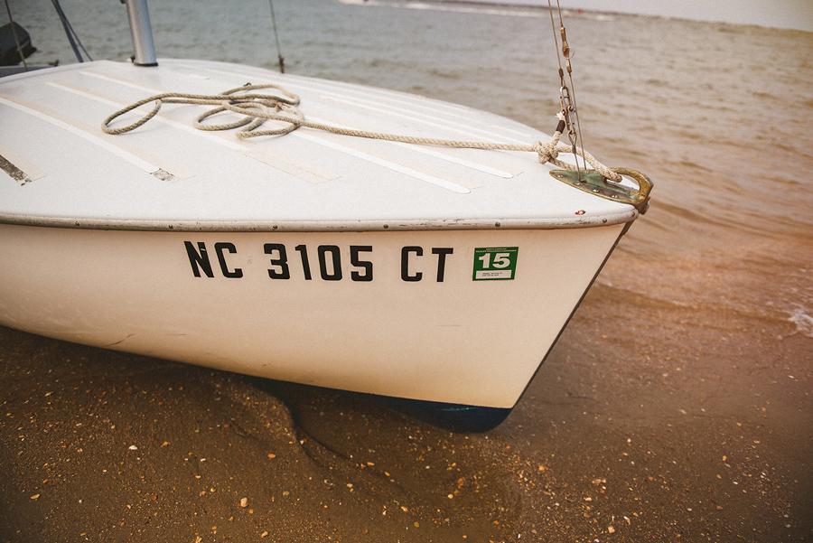 closeup of sailboat