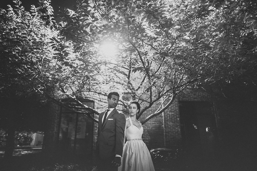 night time wedding portraits