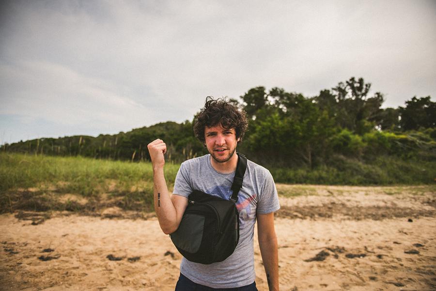 sam hurd on a beach