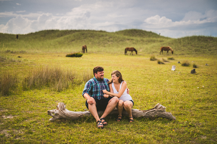 laura and rob portrait with wild horses