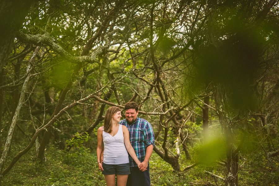 engagement session on harkers island