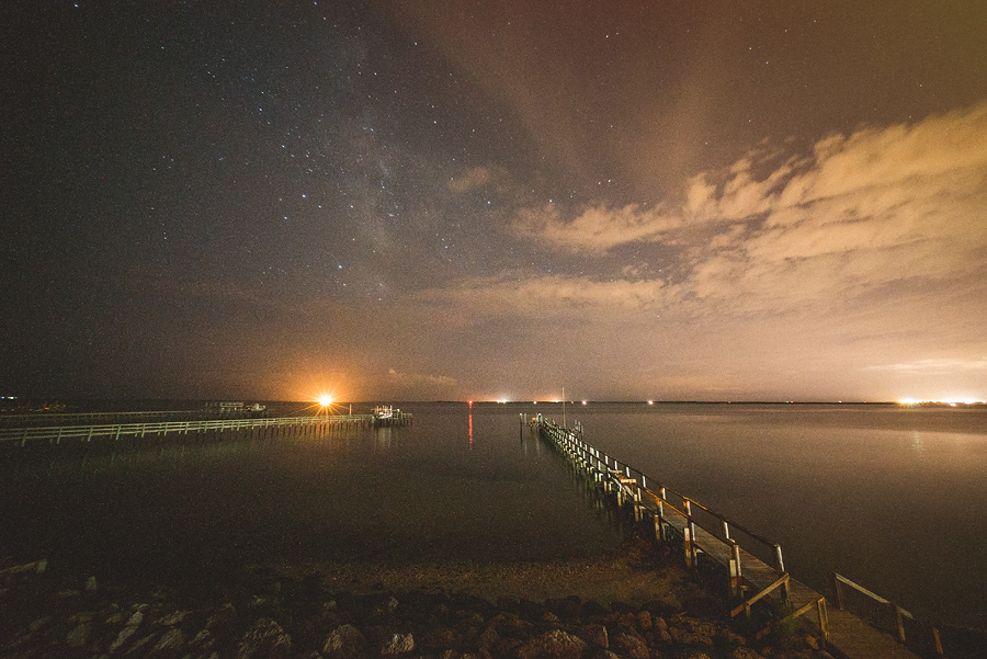 harkers island at night