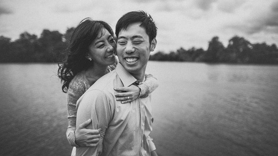 black and white photo of engagement session