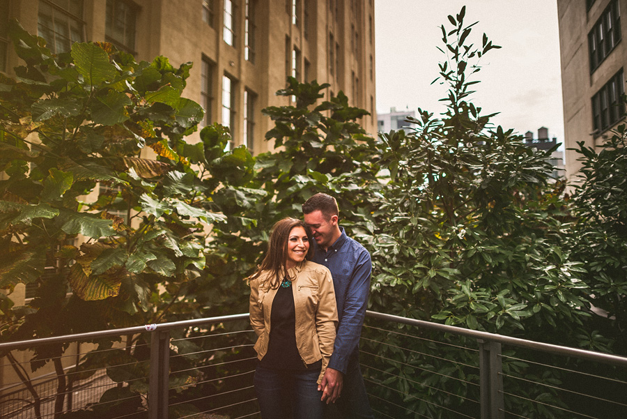 nyc highline engagment session
