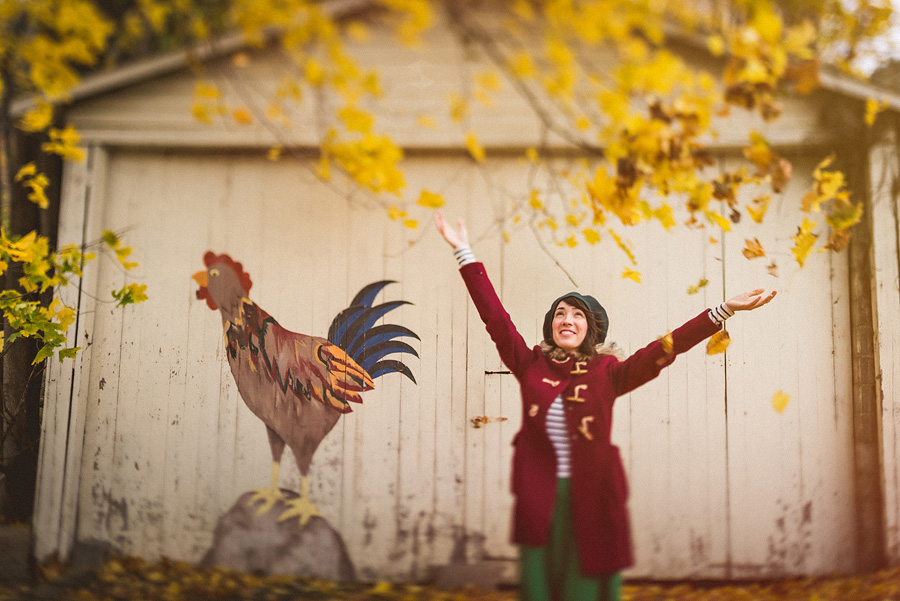 nessa k with fall leaves1