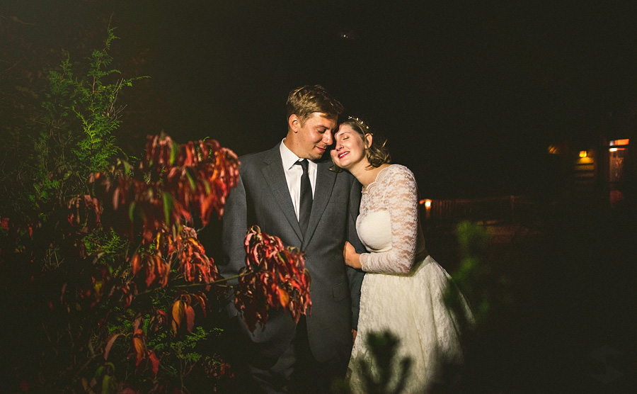 artistic night photos of bride and groom