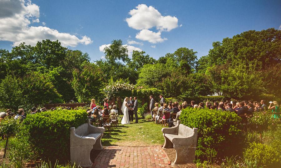 river farm wedding ceremony