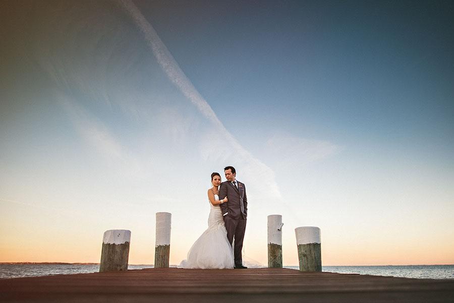 awesome sunset wedding photos