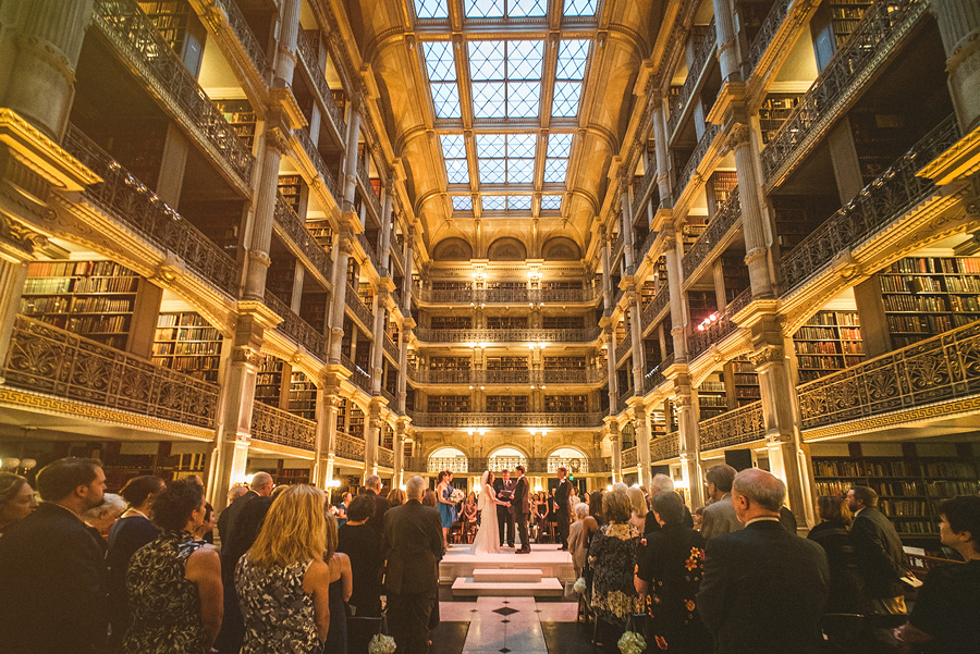 Baltimore Wedding Photographers At The Peabody Library In Md