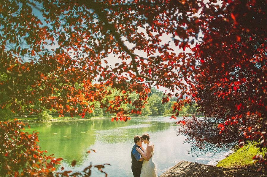 gay wedding portraits at lake