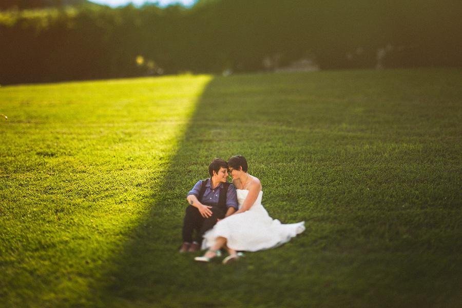 tilt shift wedding photography