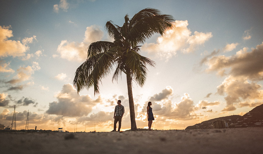 st maarten engagment session