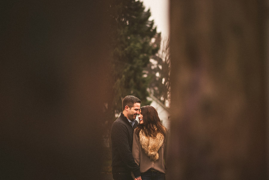 engagement photos of a couple