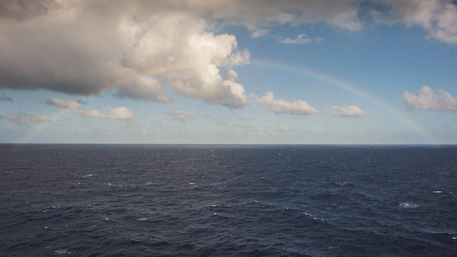 rainbow in ocean