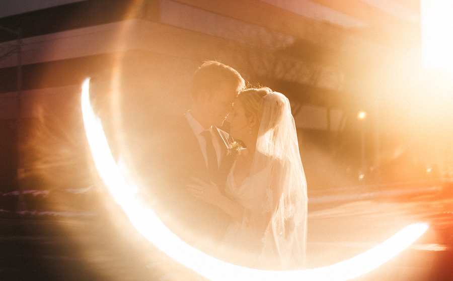 creative flare from artistic wedding couple