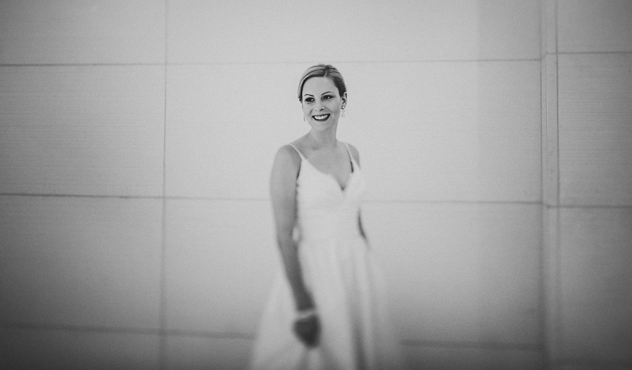 brides artist portrait with tilt shift