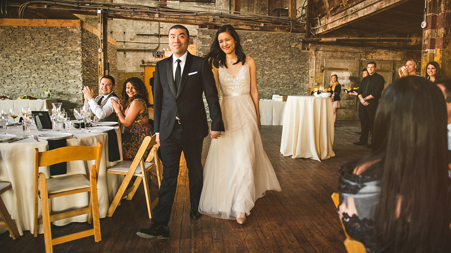 wedding reception at greenpoint loft in brooklyn