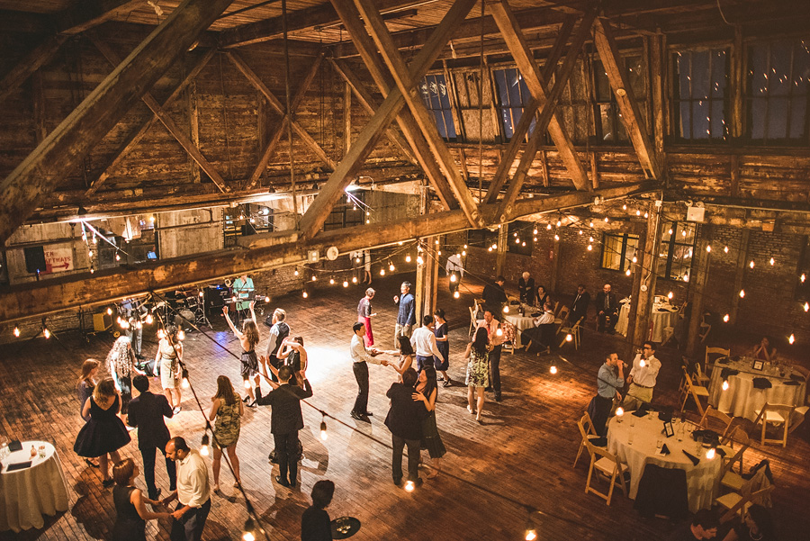 greenpoint loft wedding venue during reception