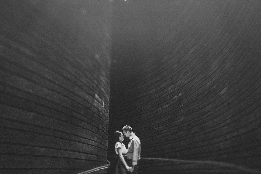 creative black and white engagement photos