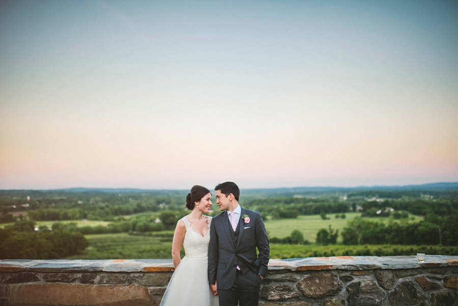bride and groom in love at bluemont vineyard