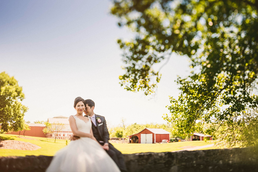 tilt shift wedding photos