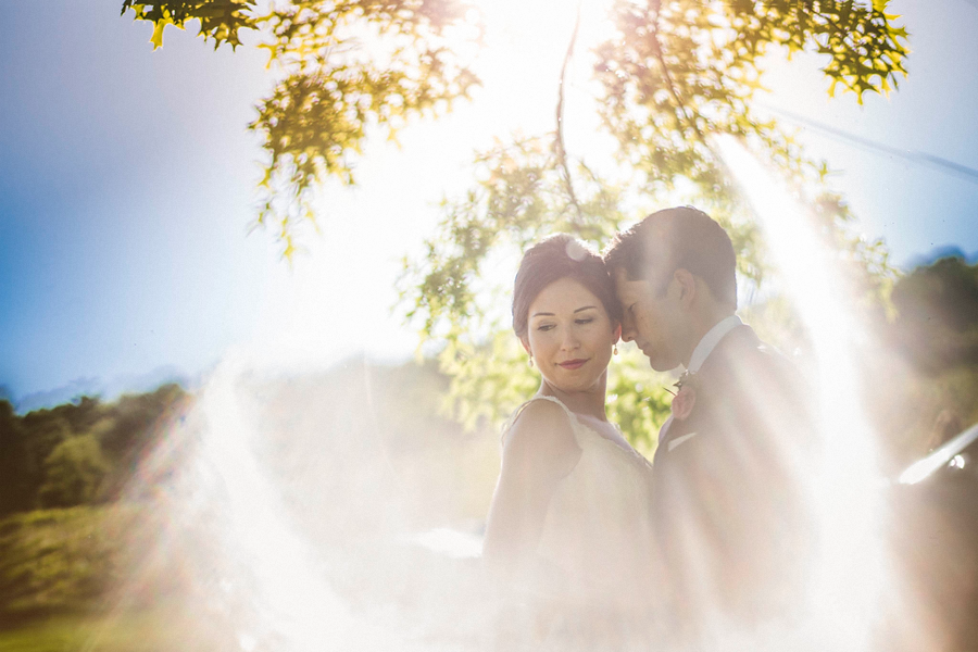 creative flare with wedding day couple