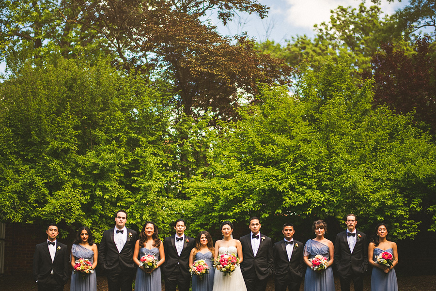 bridal party creative photo