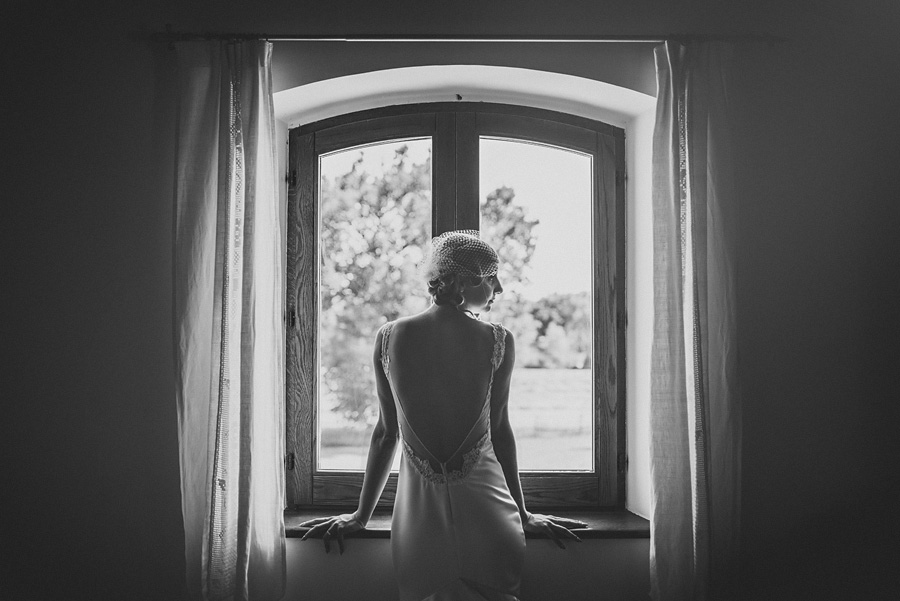 portrait of a bride getting ready
