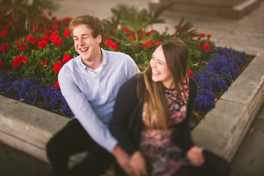 couple in love laughing together