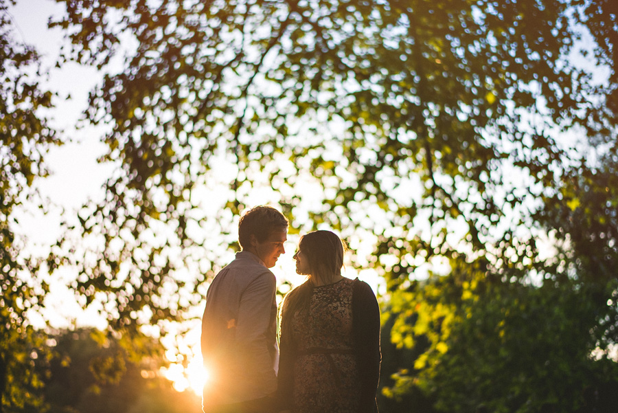 sunset in london for engagement photos