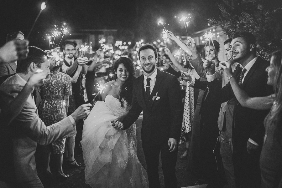 sparkler exit at mankin mansion resort wedding