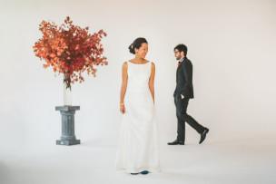 Joanie + Michael<br>sun west studio wedding
