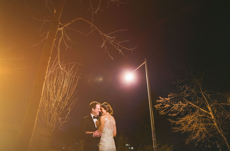 16 night portrait with lens flare