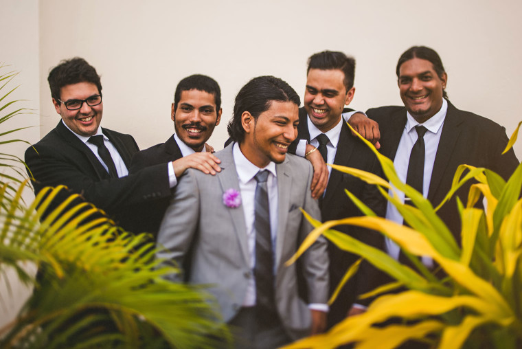 06 ravi laughing with his groomsmen