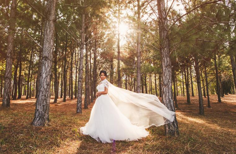 11 a wedding dress with cape portrait