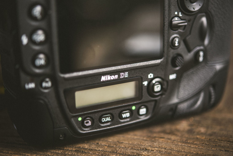 nikon d5 caemra body closeup