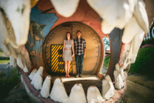 Marcy + Rahmin Dinosaur Land Engagement
