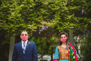 Ann + Maiwand Zoom Wedding Ceremony